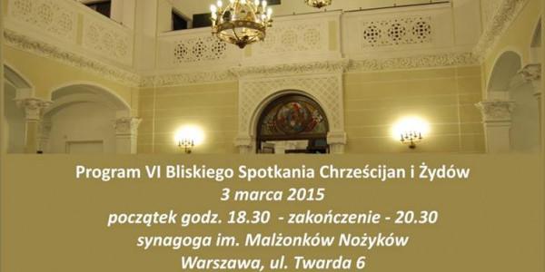 VI Bliskie Spotkanie Spotkanie Chrześcijan i Żydów