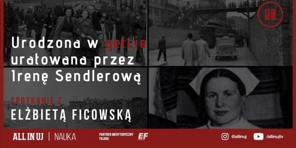 Plakat - zaproszenie na spotkanie z Elżbietą Ficowską