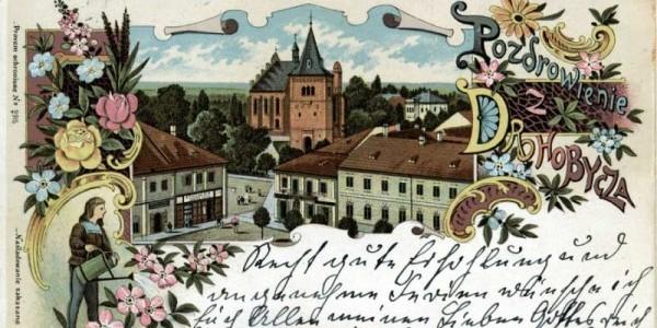 Pocztówka z Drohobycza autorstwa Bruno Schulza