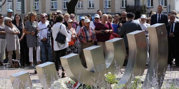 Menora, Początek Marszu Pamięci i Modlitwy, Kielce,  2019