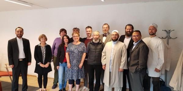 Some of the participants (f.l.t.r.): Imam Morteza Rezazadeh (Iran), Prof. Heidi Hadsell (USA), Rabbi Ute Steyer (Sweden), Elena Dini (Italy), Rabbi Rebecca Lilian (Sweden), Prof. Frederek Mus