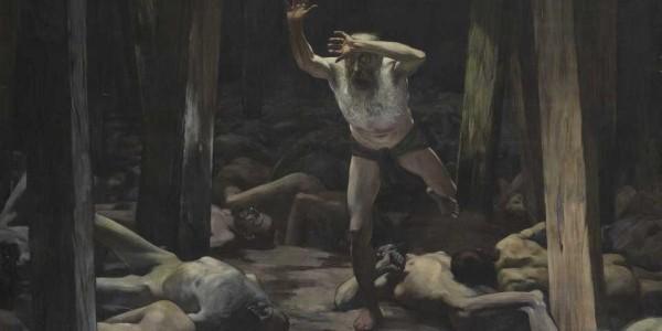 """Obraz Samuela Hirszenberga """"Żyd wieczny tułacz"""".  /  Źródło: The Israel Museum w Jerozolimie"""