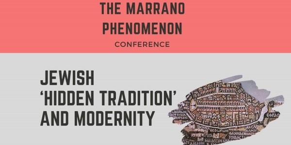 Plakat konferencji:  THE MARRANO PHENOMENON. JEWISH 'HIDDEN TRADITION' AND MODERNITY,