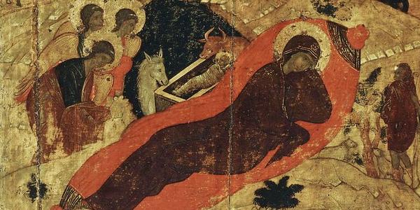 Narodzenie Chrystusa, Andriej Rublow, ikona XV w.