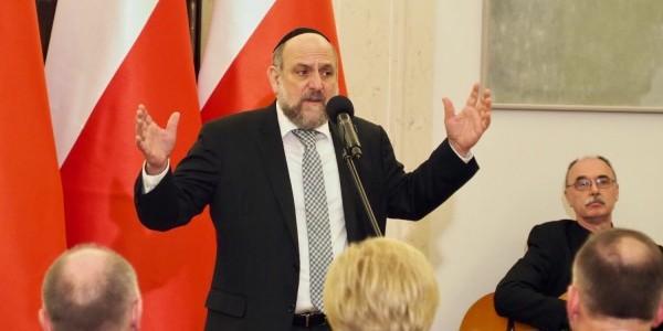Rabin Michael Schudrich w Pałacu Prezydenckim 9 stycznia 2019 r. Fot. Dawid Gospodarek