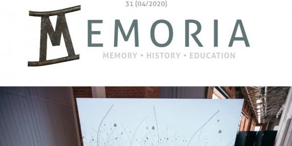 Memoria Magazine Nr. 31 4/2020, fragment strony tytułowej