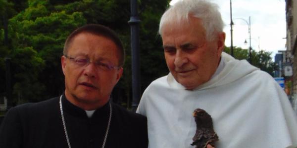 Abp Grzegorz Ryś i o. Ludwik Wiśniewski OP | Fot. Towarzystwo Jana Karskiego