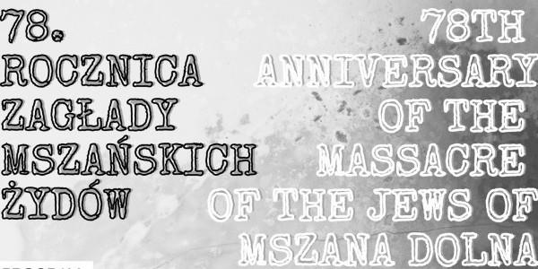 78. rocznica Zagłady mszańskich Żydów - plakat