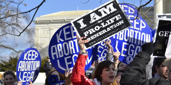 Abortion demonstrators