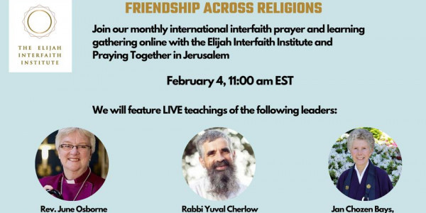 Elijah Interfaith Institute - interfaith online prayer and learning gathering