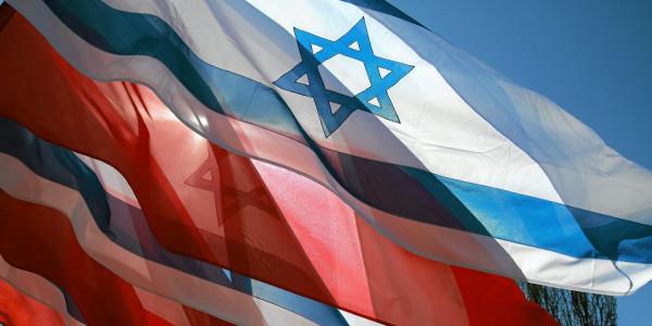 Flagi Polski i Izraela. (Fot. Wojciech Surdziel / Agencja Gazeta)