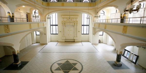 Wnętrze synagogi Pod Białym Bocianem, fot. wroclaw.pl