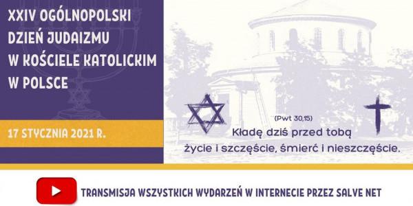 XXIV Dzień Judaizmu w Kościele katolickim w Polsce - plakat