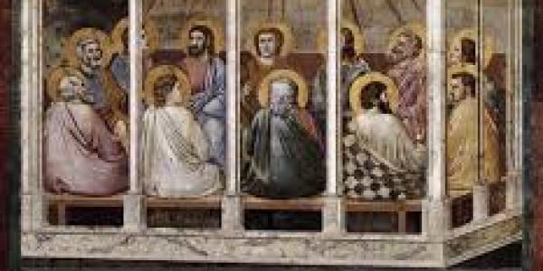 Apostołowie zebrani w wieczerniku