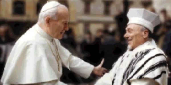 Jan Paweł II i Główny Rabin Rzymu